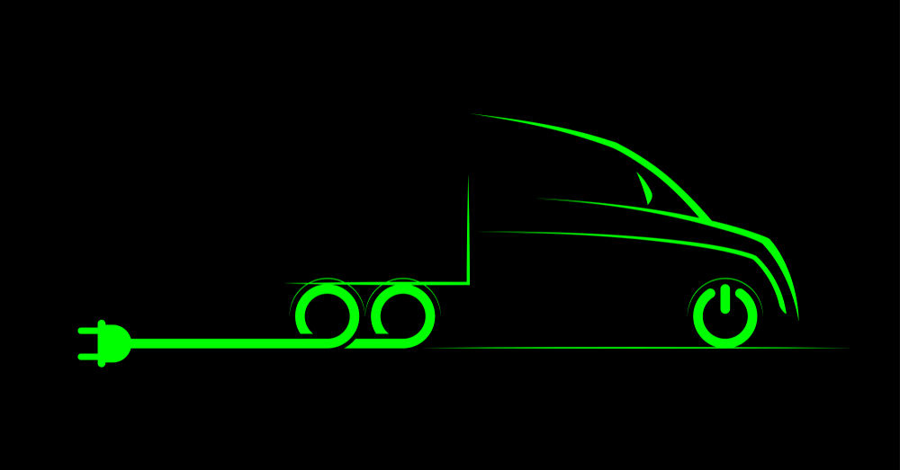 Hybrid, electric truck