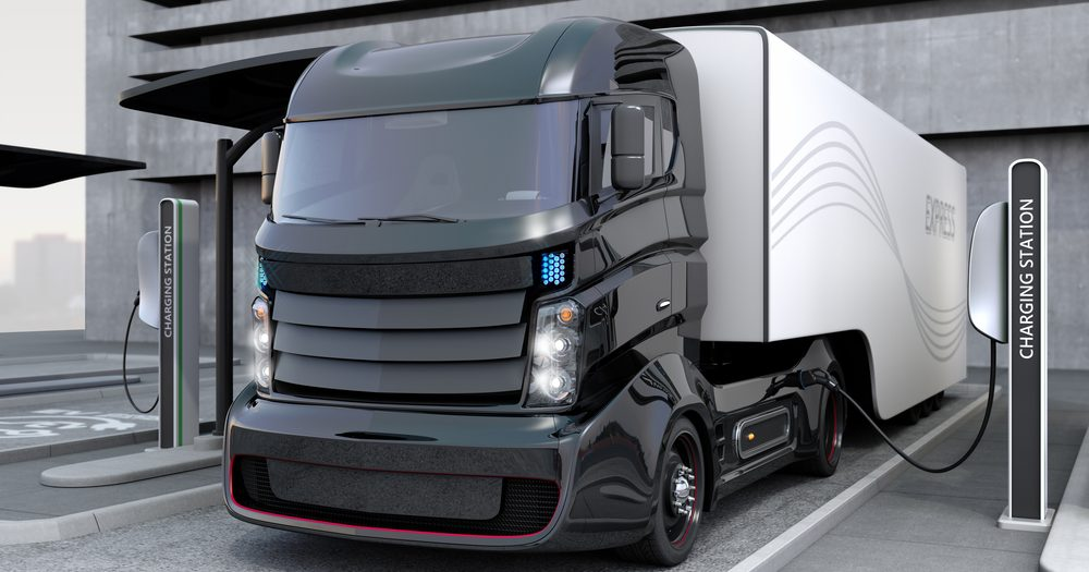 Hybrid Electric Truck Charging